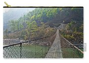 Suspension Bridge Over The Seti River In Nepal Carry-all Pouch