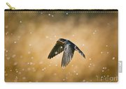 Swallow In Rain Carry-all Pouch by Robert Frederick