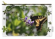 Swallowtail 4 With Flower Framing Carry-all Pouch