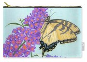 Swallowtail Butterfly And Butterfly Bush Carry-all Pouch