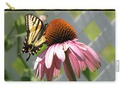Looking Up At Swallowtail On Coneflower Carry-all Pouch