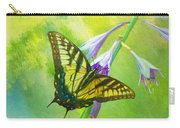 Swallowtail Visits Hosta Flowers Carry-all Pouch