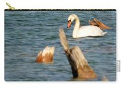 Swan Amid Stumps Carry-all Pouch