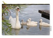 Swan And Chicks Carry-all Pouch