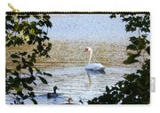 Swan And Ducks Through Trees Carry-all Pouch