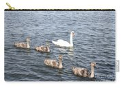 Swan And His Ducklings Carry-all Pouch