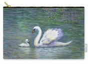 Swan And One Baby Carry-all Pouch