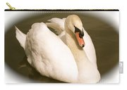 Swan Cameo In Sepia Carry-all Pouch