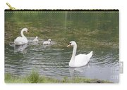 Swan Family Carry-all Pouch by Teresa Mucha