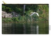 Swan In Flight Carry-all Pouch