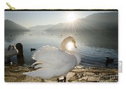 Swan In Sunset Carry-all Pouch