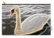 Swan In The Water Fractal Carry-all Pouch