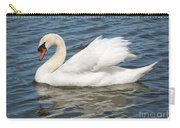 Swan On Blue Waves With Border Carry-all Pouch