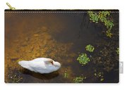 Swan With Sun Reflection On Water. Carry-all Pouch