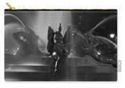 Swann Fountain At Night In Black And White Carry-all Pouch