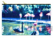 Swans And Flamingos Carry-all Pouch
