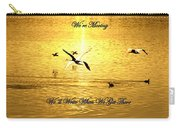 Swans Flying Over The Water Carry-all Pouch