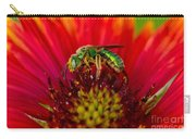 Sweat Bee Collecting Pollen Carry-all Pouch