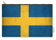 Sweden Flag Vintage Distressed Finish Carry-all Pouch