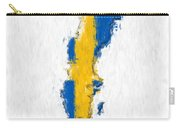 Sweden Painted Flag Map Carry-all Pouch