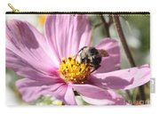 Sweet Bee On Pink Cosmos Carry-all Pouch