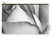 Sweet Black And White Rose  Carry-all Pouch