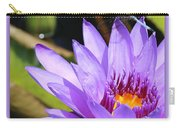 Sweet Dragonfly On Purple Water Lily Carry-all Pouch