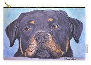 Rottweiler's Sweet Face Carry-all Pouch