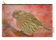 Sweet Female House Finch 3 - Digital Paint Carry-all Pouch