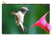 Sweet Hummingbird Birthday Card Carry-all Pouch
