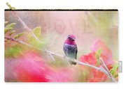 Sweet Hummingbird Love Carry-all Pouch