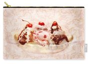 Sweet - Ice Cream - Banana Split Carry-all Pouch by Mike Savad