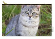 Sweet Little Tabby Kitten Carry-all Pouch