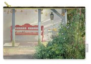 Sweet Peas And Autumn Harvest Oil On Canvas Carry-all Pouch