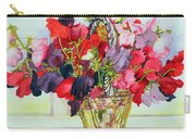 Sweet Peas In A Vase Carry-all Pouch
