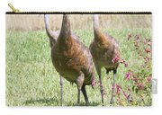 Sweet Sandhill Crane Family Carry-all Pouch