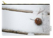 Sweetgum Seed Pod In The Snow Carry-all Pouch