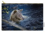 Black Bear On Blue Carry-all Pouch