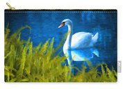Swimming Swan And Ferns Carry-all Pouch
