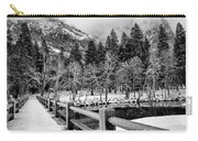 Swinging Bridge In Winter Carry-all Pouch