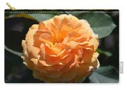 Swirling Peach Rose Carry-all Pouch