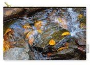 Swirling Stream Of Leaves  Carry-all Pouch