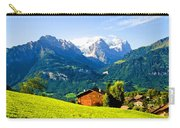 Switzerland Oil On Canvas Carry-all Pouch