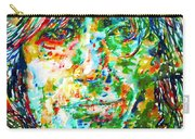 Syd Barrett - Watercolor Portrait Carry-all Pouch