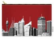 Sydney Skyline 1 - Dark Red Carry-all Pouch