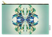 Symmetrical Orchid Art - Blues And Greens Carry-all Pouch
