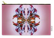Symmetrical Orchid Art - Reds Carry-all Pouch