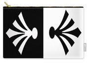 Symmetry In Black And White Digital Painting Carry-all Pouch