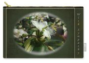 Sympathy Greeting Card - Elegant Floral Green And White Carry-all Pouch