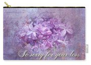 Sympathy Greeting Card - Lilacs Carry-all Pouch
